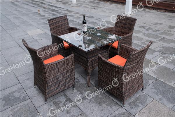 Muebles de Jardín de ratán al aire libre juego de comedor-Conjuntos ...
