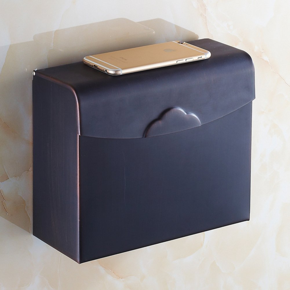 MOMO Copper Tissue Box/Tissues Holder /Wall-Mounted Toilet Tray Tissue Paper Holder/The Shelf in the Bathroom-C