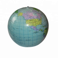 Inflatable PVC globe, PVC inflatable world globe ball