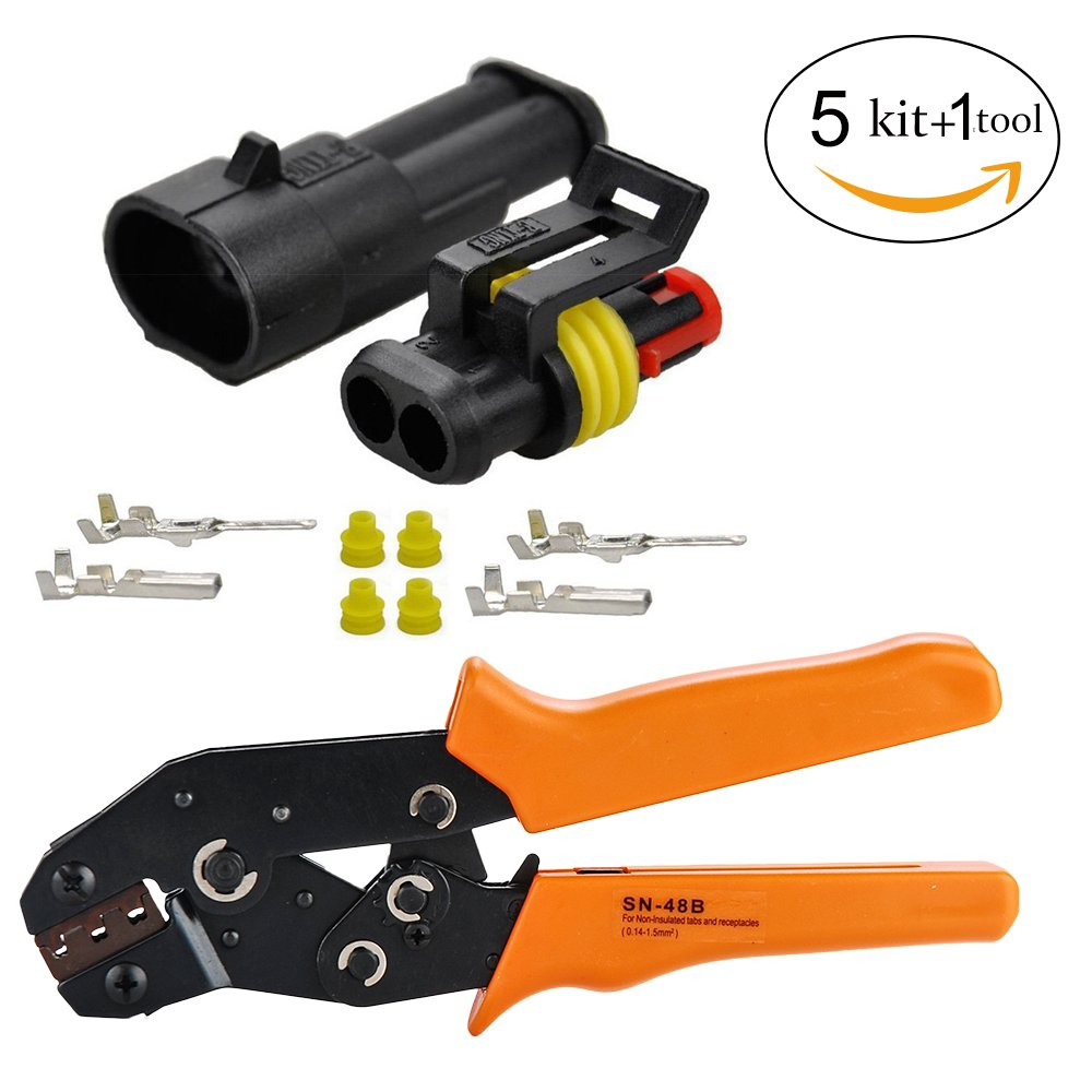 Cheap Connector Tool Kit Find Deals On Line At Wire Harness Get Quotations Hifrom 5 2 Pin Way Waterproof Electrical With Crimping Tool15mm Series