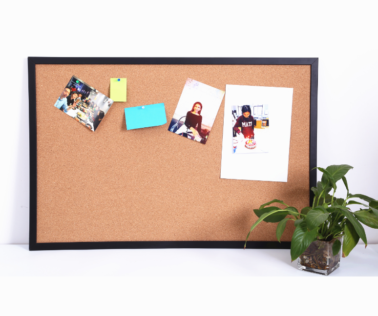 Amazon Hot Sells Hochwertige Holzrahmen Dekorative Cork Bulletin Board