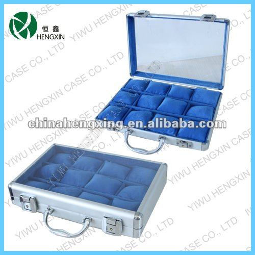 aluminum watch display case with clear window,Acrylic watch box