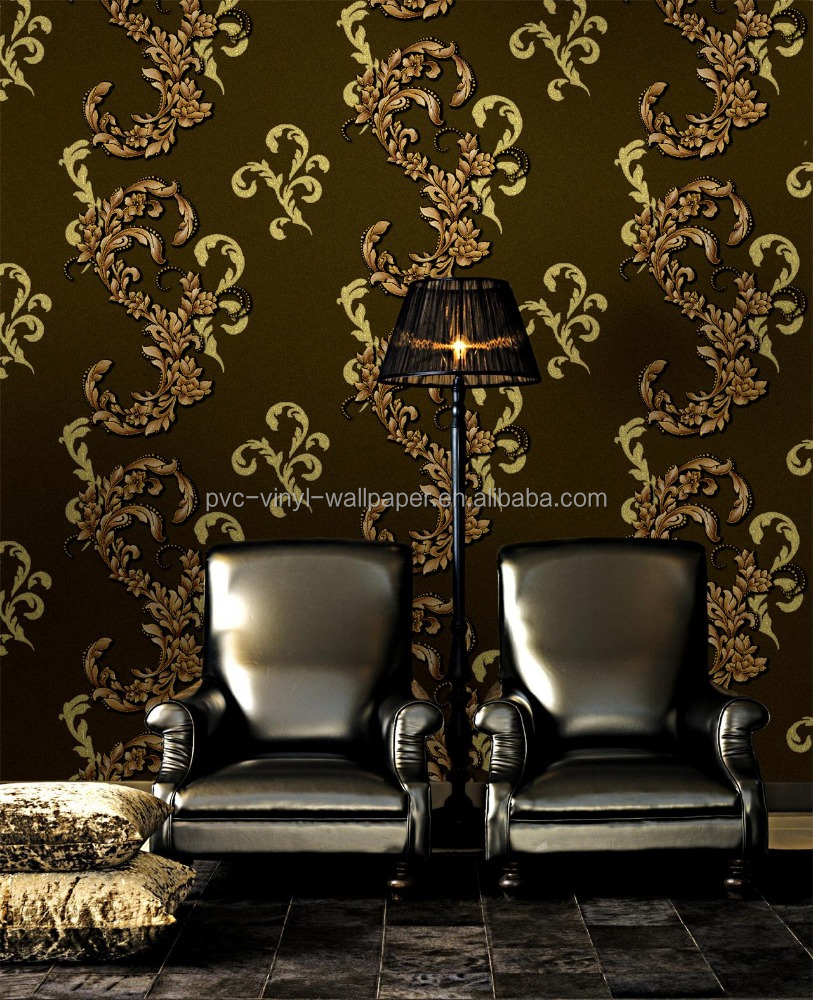 2017 Natural material new design style wall covering pvc wallpaper
