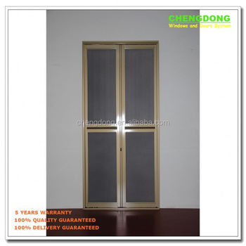 Wood Color Bi-fold Screen Door With Grill Design,Custom Make To ...