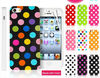 New Coming Products Color Polka Dots Silicone Gel Case Cover For iPhone 4 4G