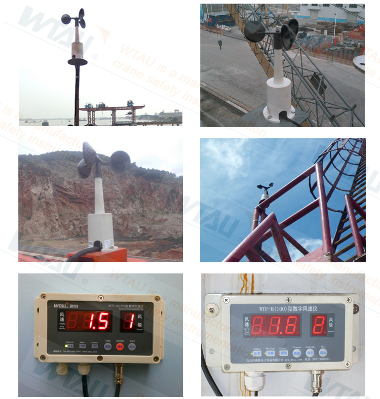 Wind Speed Indicator For Cranes : Tower crane anemometer wind speed measurement view