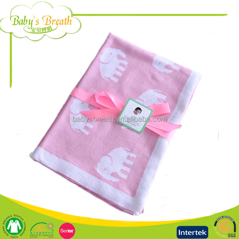 PB19 Soft Softextile Knitted Baby Blanket Cotton Baby Blanket