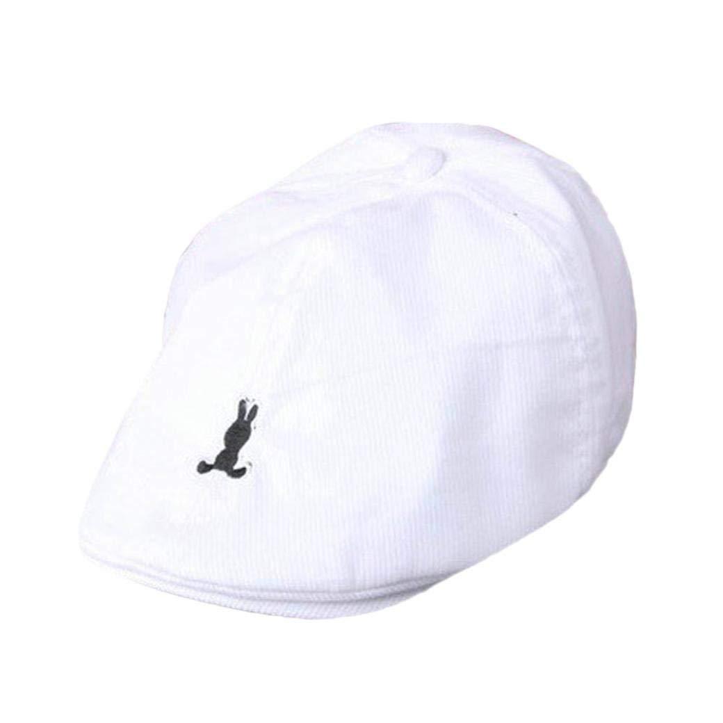 bcce96af052 Get Quotations · Alivego Kids Baby Boy Girl Cotton Stripe Beret Cap Newsboy  Casquette Baseball Hat (White)