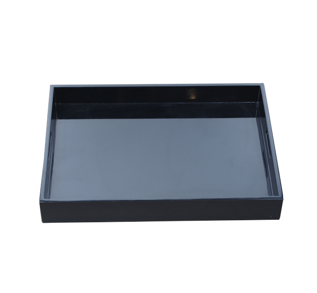 Simple high end wooden lacquer black serving tray
