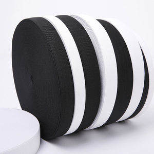 20MM Wide White Knit Heavy Stretch High Elasticity Elastic Band For Pants Trousers