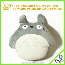 2014 hottest original exclusive and useful soft touch Totoro blanket 2 in 1 pillow blanket