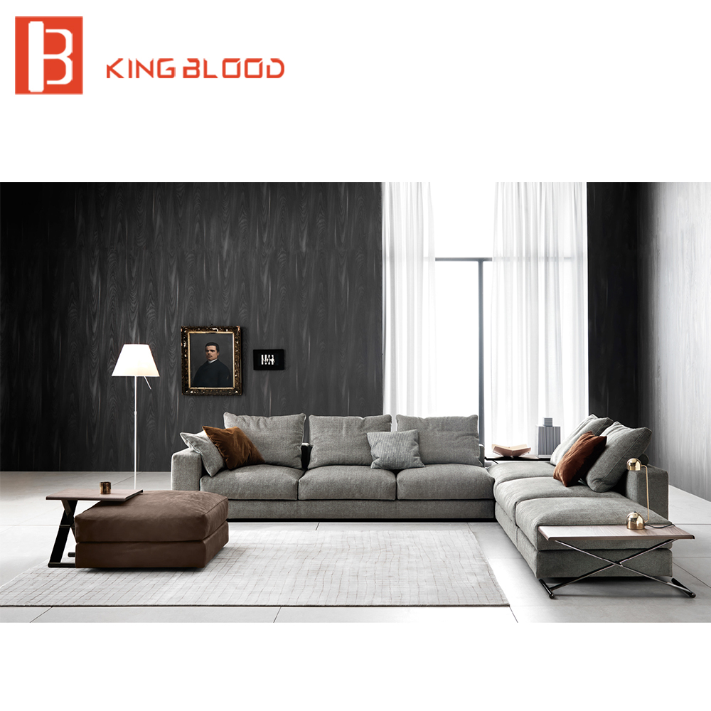 Modern 5 seater italian style fabric sofa set designs furniture for living room