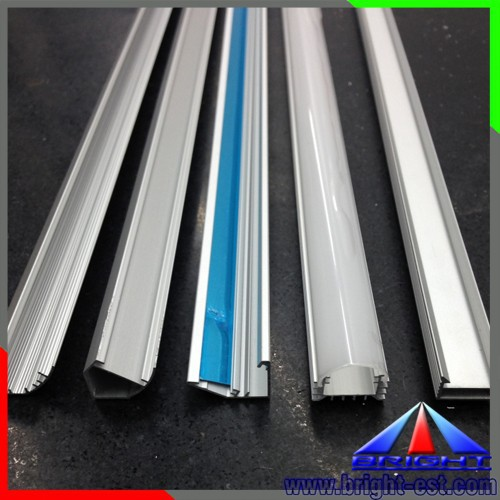 Extruded Aluminum profile with Clear/Milk PC Cover for LED Rigid Bar Light