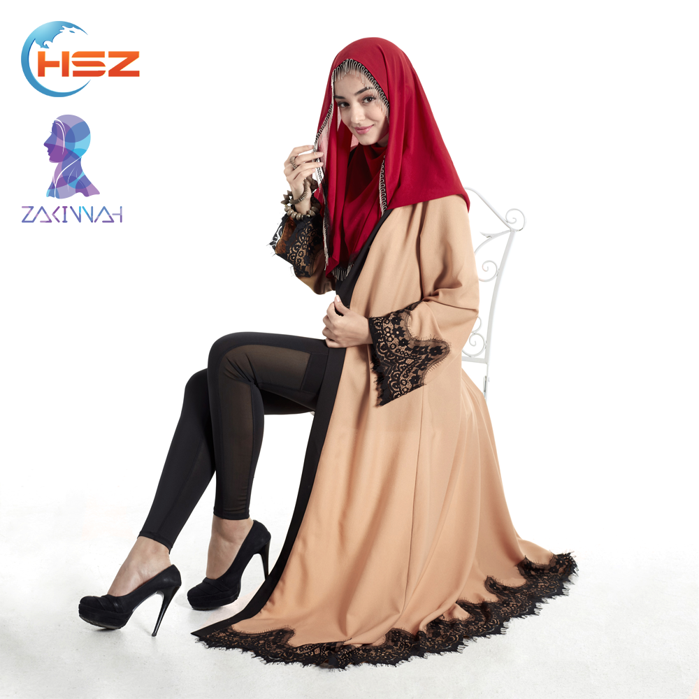 Zakiyyah E006 Hot arab abaya fashion latest abaya designs 2017 dubai muslim dress kimono hijab