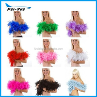 Wholesale 2 Meters long 40g cheap black white wedding feather boa decorations