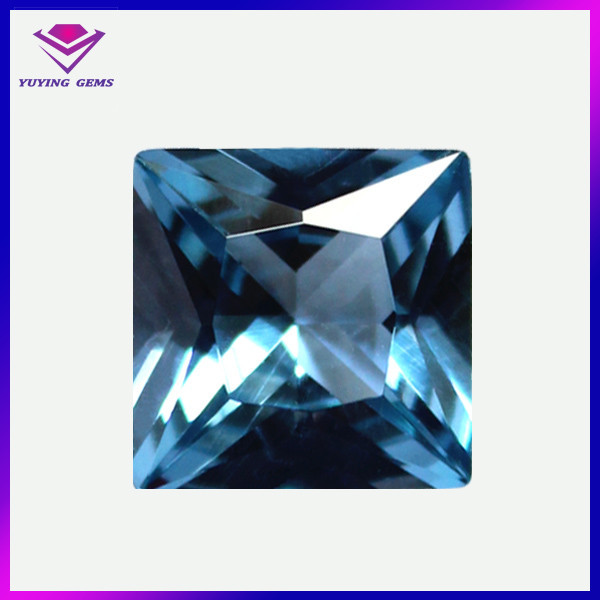 AAA square blue loose spinel princess cut best synthetic diamond price per carat