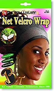 Beauty Town Net Velcro Wrap - Coconut Oil Treated - Black