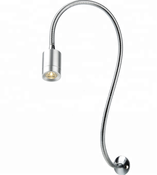 Led Reading Lamp With Flexible Gooseneck Hotel Bedside Light