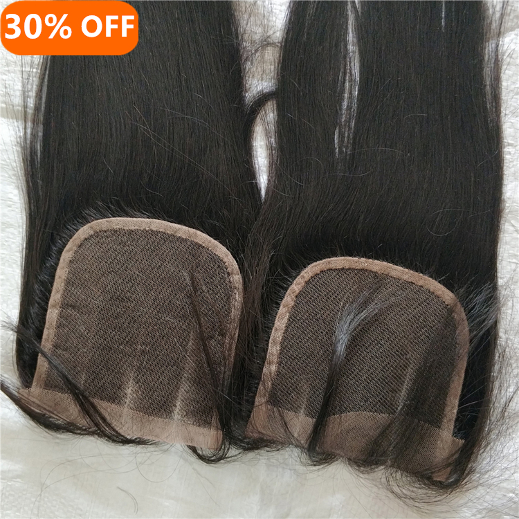 LetsFly cheap hair wholesale 20PCS 4x4 top brazilian Silky Straight Wave Style Virgin Hair lace closure фото