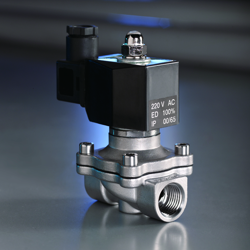 KLQD brand 2/2 way 1/2 inch air water 24V stainless steel material solenoid <strong>valve</strong>