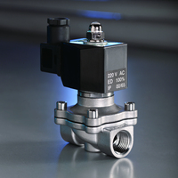 KLQD brand 2/2 way 1/2 inch air water 24V stainless steel material solenoid valve