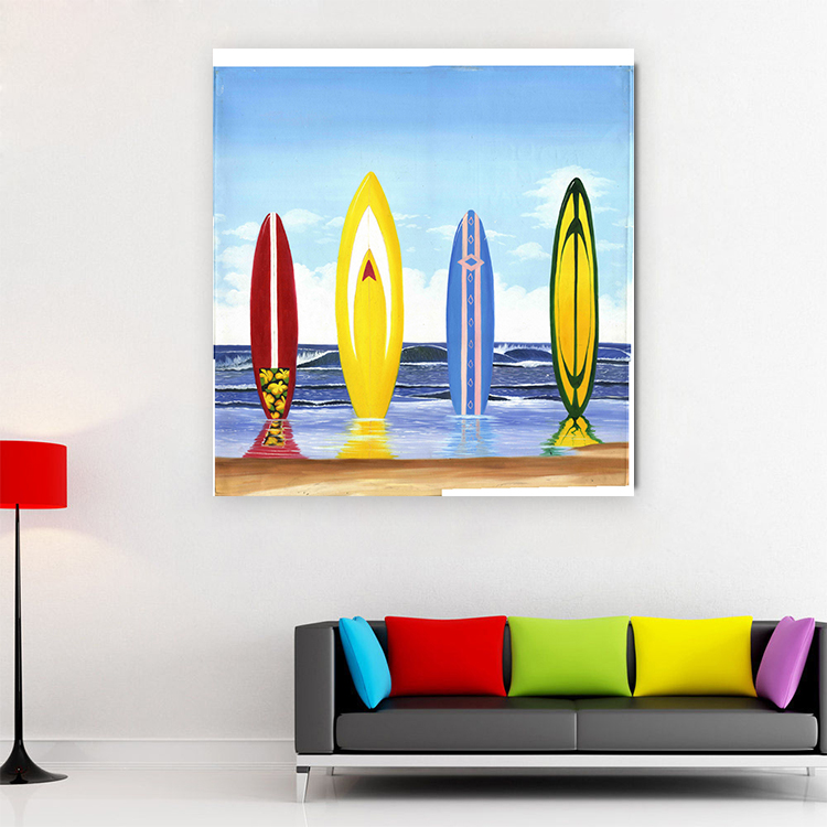Poster and print painting wall art cool surfboard canvas art painting Coastal Wall Art Beach Paintings