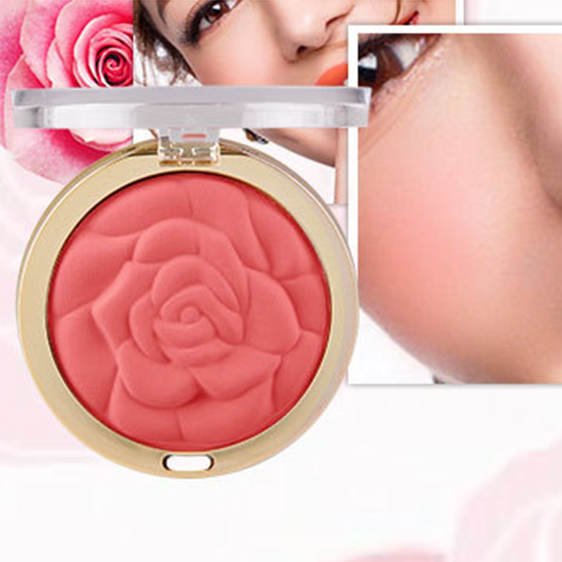 Factory directly sale 3D mineral long lasting rose high quality loose powder cheek blush