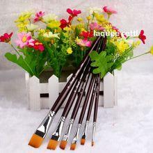 5 pcs Nail Art Brush Flat Head Painting Polish Set High Quality