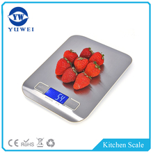 Digital Kitchen Scale Multifunction Food Scale 5 kg Silver Stainless Steel for Kitchen scale
