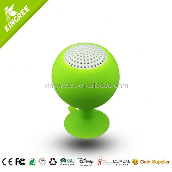 wholesale bluetooth shower speaker silicone portable speaker from China factory