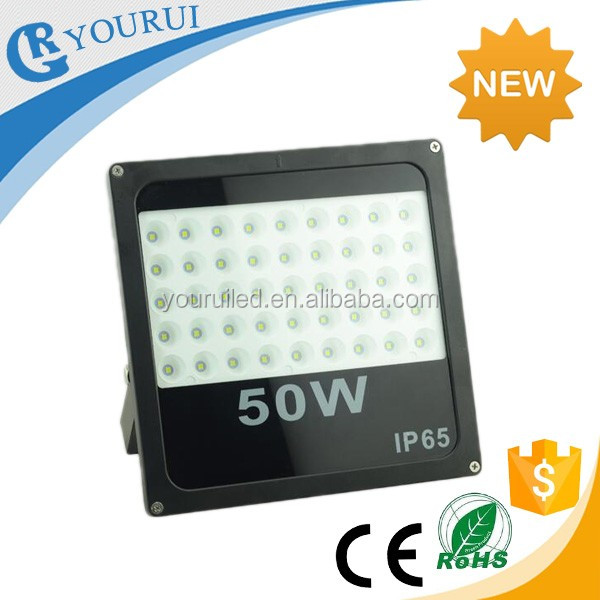 2016 New model super bright SMD 5050 led flood light 10W 20W 30W 50W 100W slim flood light with lens