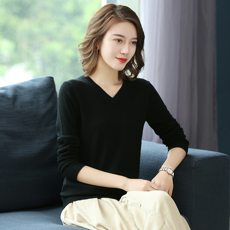 Alibaba.com / Autumn season long sleeve round neck pullover 100% wool sweater