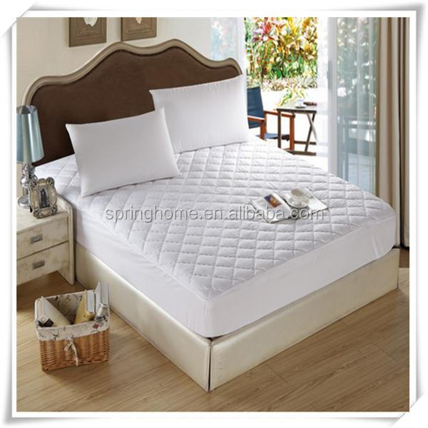 Microfiber Ultrasonic Mattress Protector With Anchor band with Embossed Quilted
