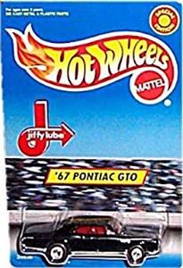 Hot Wheels - Special Edition - Jiffy Lube - '67 Pontiac GTO (Black Body w/Red Line Tires)