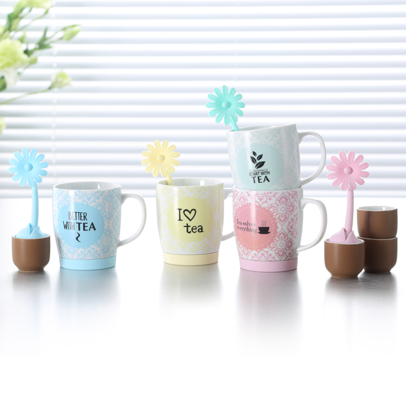 China supplier tea cup sets ceramic with tea infuser