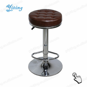 High quality cheap swivel adjustable leather high bar chair YW-022