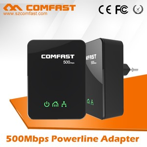 2016 Alibaba New Arrival COMFAST CF-WP500M Powerline Ethernet Bridge PLC Plug US/EU 500Mbps Network Powerline Adapter