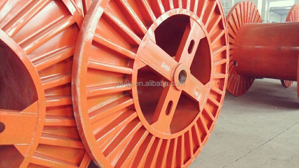 Corrugated Empty Large Optical fiber Cable steel reel Drum