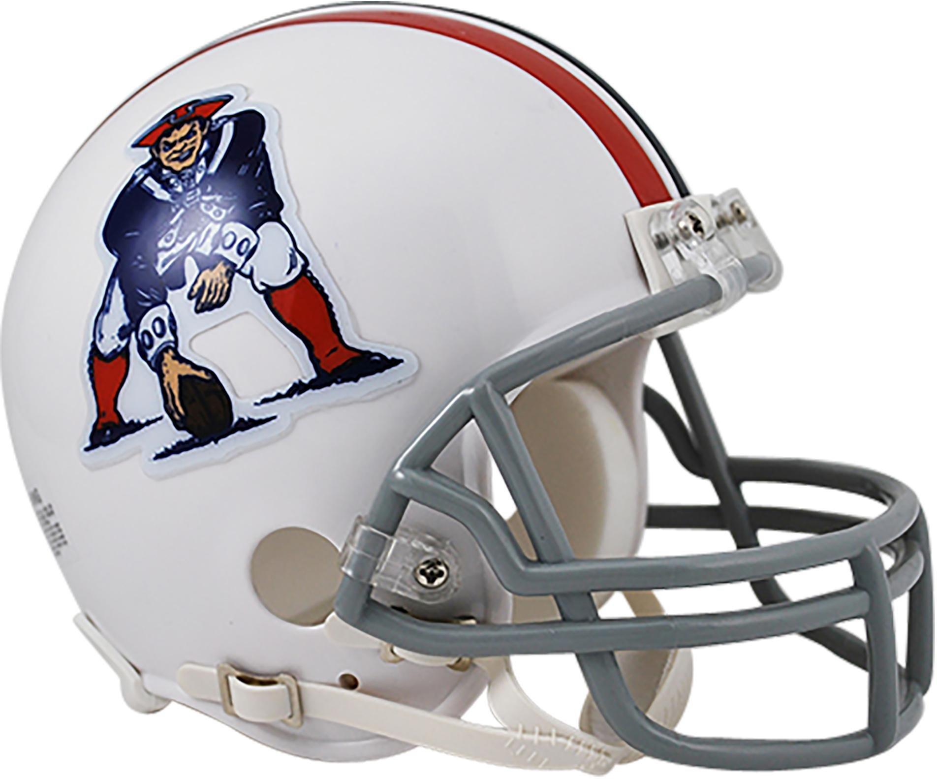 948a1bea588 Get Quotations · Sports Memorabilia Riddell New England Patriots Throwback  1965-1981 VSR4 Mini Football Helmet - Fanatics