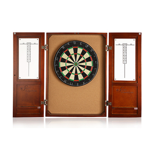 Indoor Fun & Sports Professional Bar Party Target Classical Wooden Darts Cabinet With Dart Score Board
