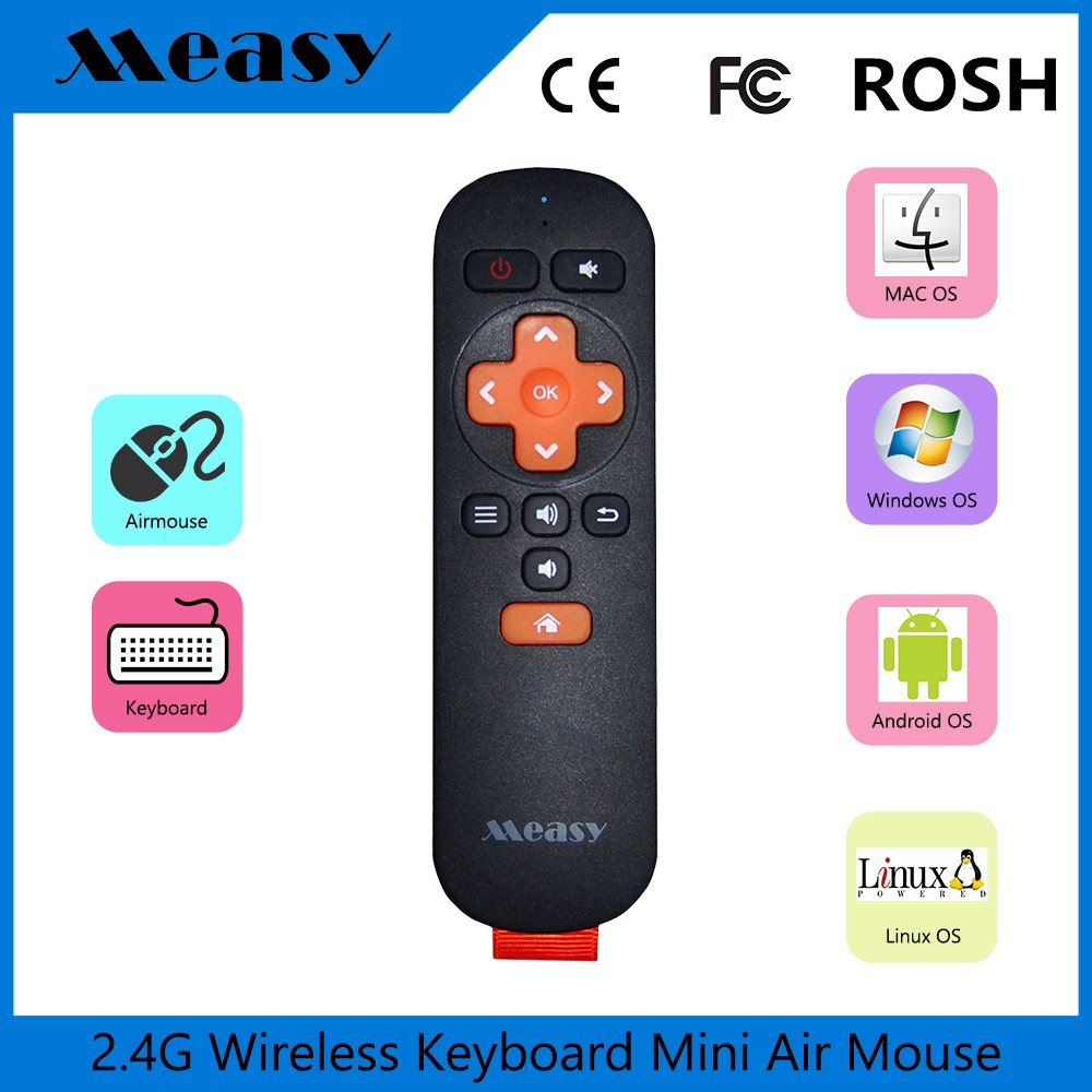 Super Purchasing Measy RC6 gyroscope model 2.4G RF wireless USB receiver + <strong>remote</strong> control for smart <strong>tv</strong> android <strong>tv</strong> box <strong>dongle</strong> PC