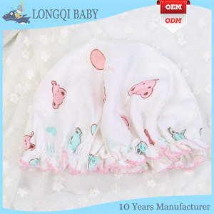 wholesale newborn baby clothes custom cotton girl baby bonnet