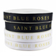Wholesale custom logo 1 inch 25mm black polyester grosgrain ribbon gold foil printed ribbon