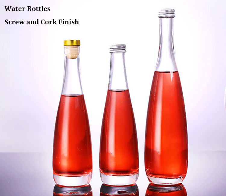 Wholesale Round Extra White Clear Flint Empty Cork Stopper Vodka Glass 750ml Liquor Bottles