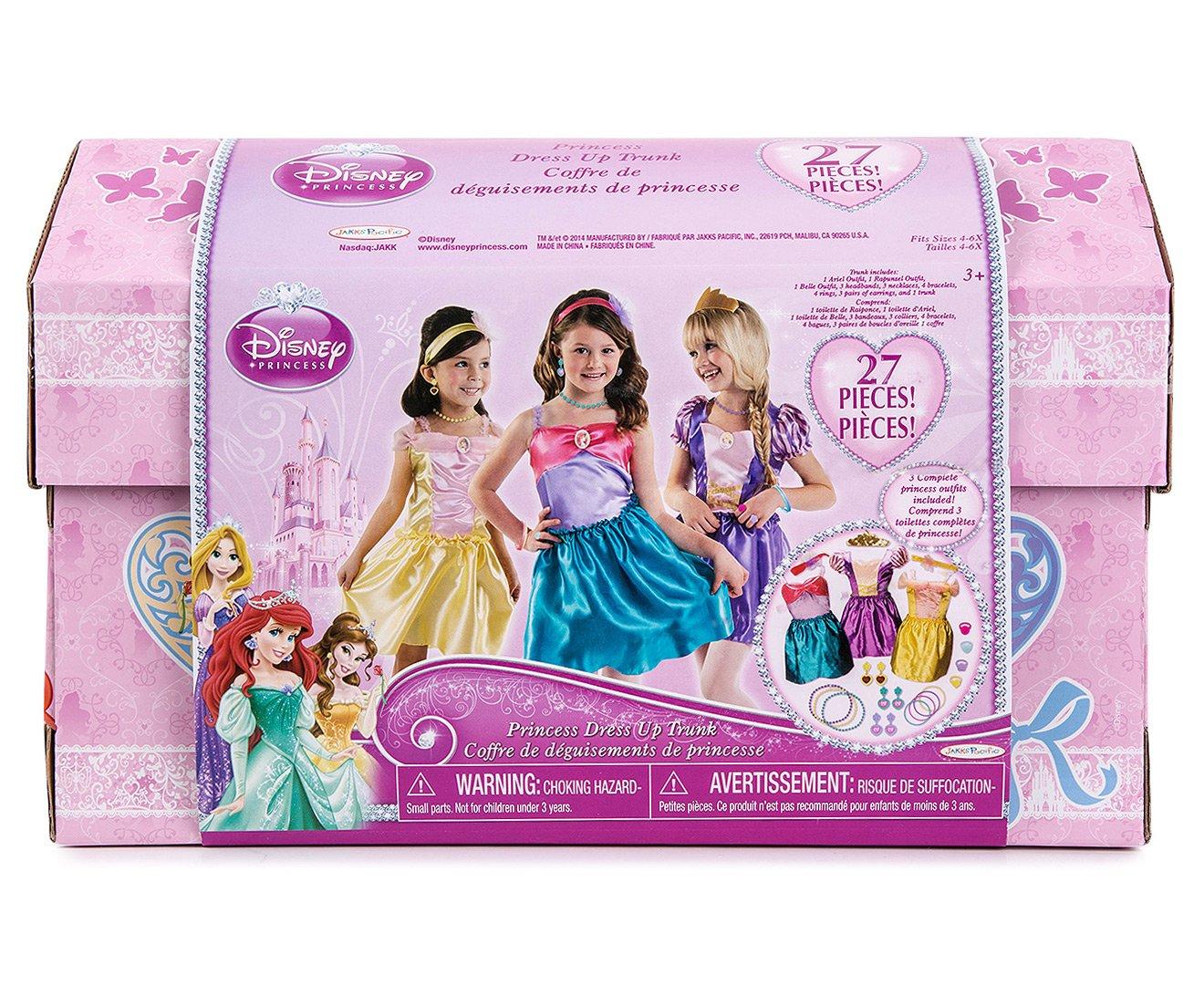 Disney Princess 27 Piece Dress Up Trunk - Ariel, Rapunzel, & Belle