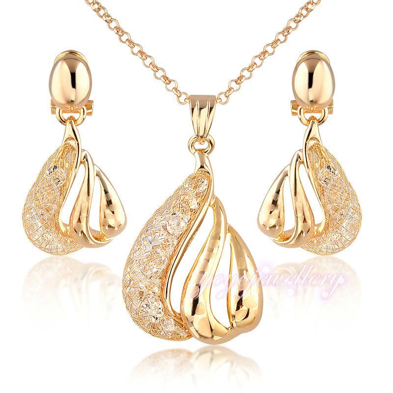 Girls Accessories Jewelry Wire Mesh Deisgn Stylish Fake Gold ...
