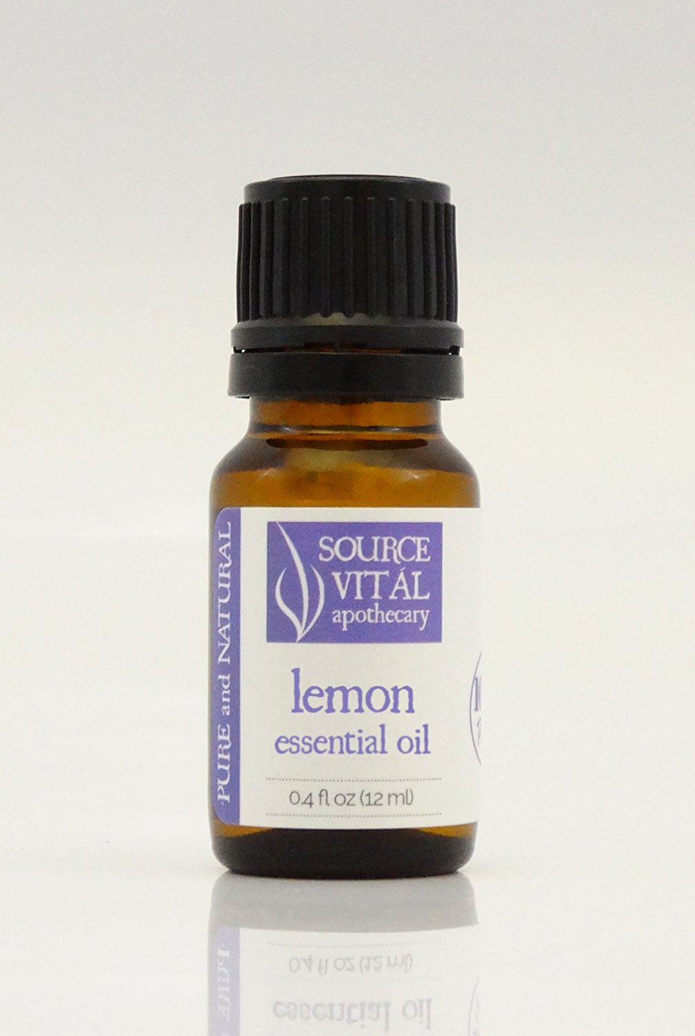100% Pure and Natural Lemon Essential Oil (.4 Fl. Oz.) by Source Vitál Apothecary