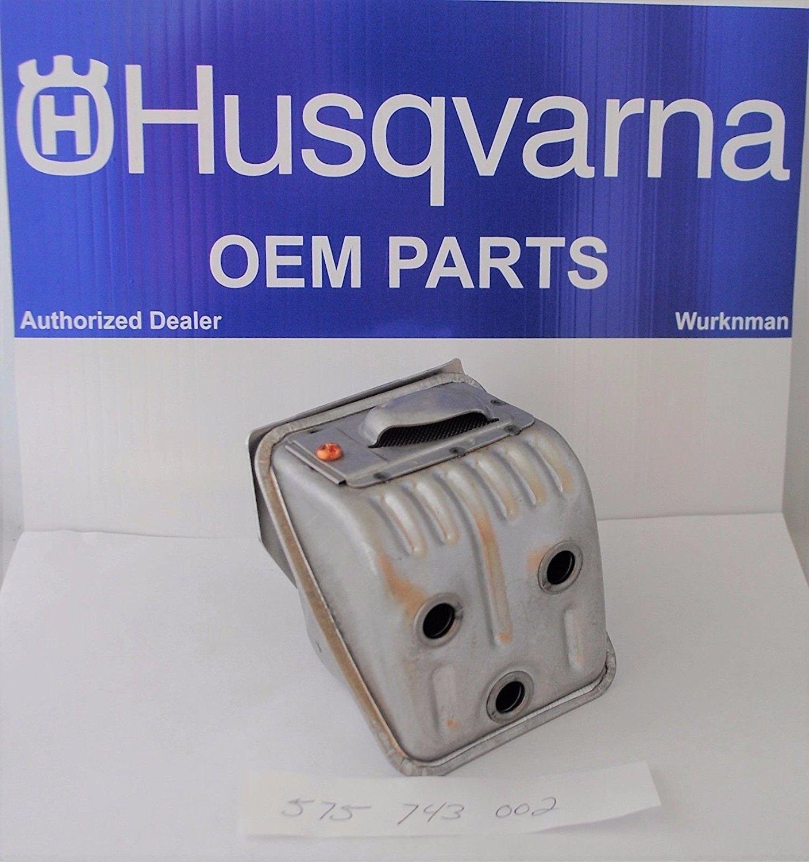 Genuine Oem Husqvarna 575743002 Muffler Kit For The 455 & 460 Rancher
