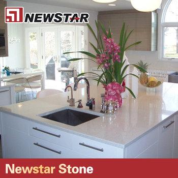 Super White Quartz Stone Countertop, Kitchen Quartz Table Top