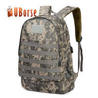 Wholesale Cheap Oxford Laptop Rucksack USB Bag Tactical Hiking Canvas Backpack For Military